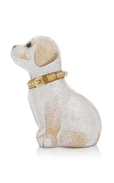 Judith Leiber Couture Luna Puppy Crystal Clutch in multi