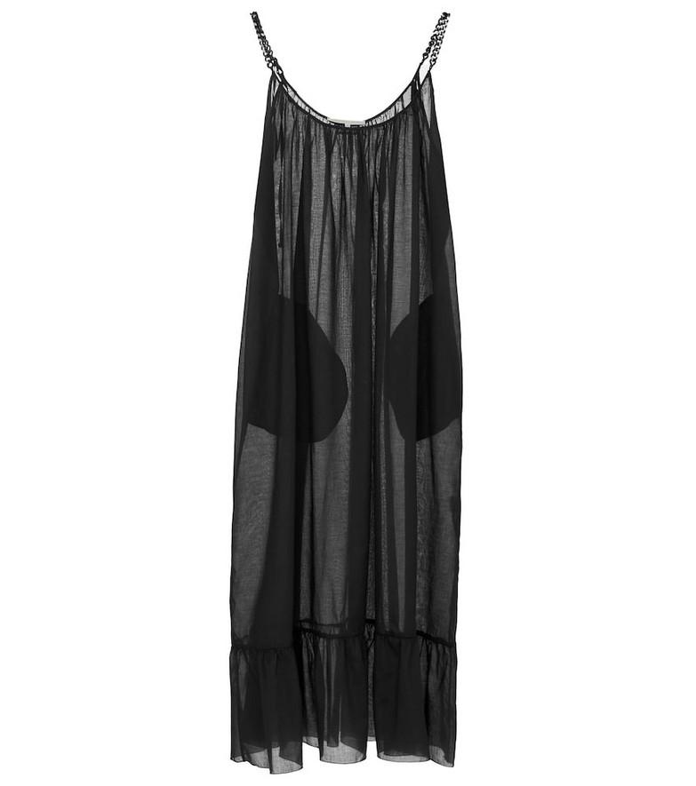 Stella McCartney Organic cotton midi dress in black