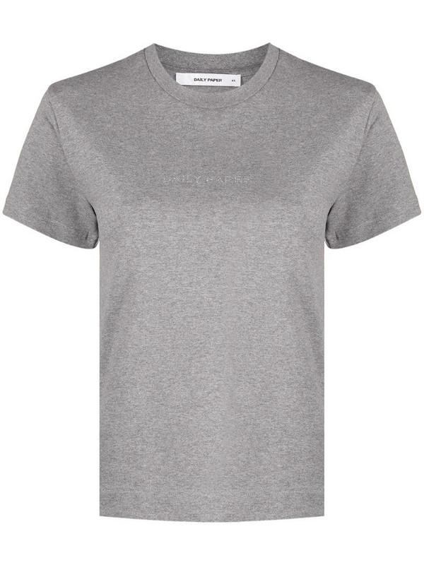 Daily Paper Hostan logo-print cotton T-shirt in grey