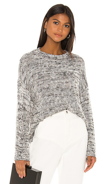 L'Academie Angus Oversized Sweater in Gray