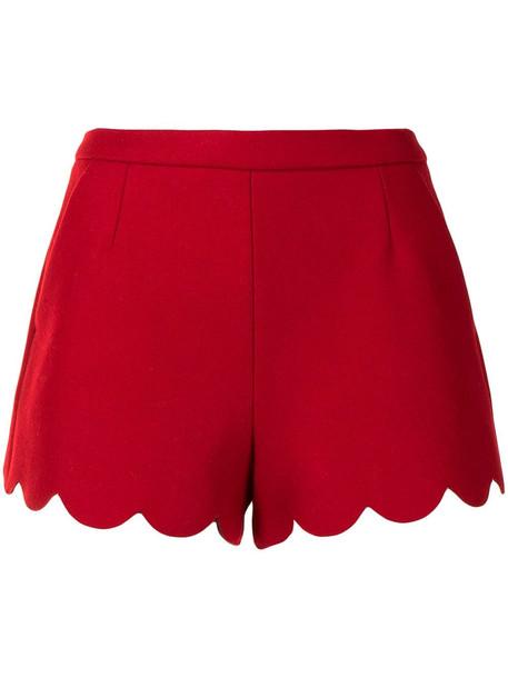 Valentino scallop hem shorts - Red