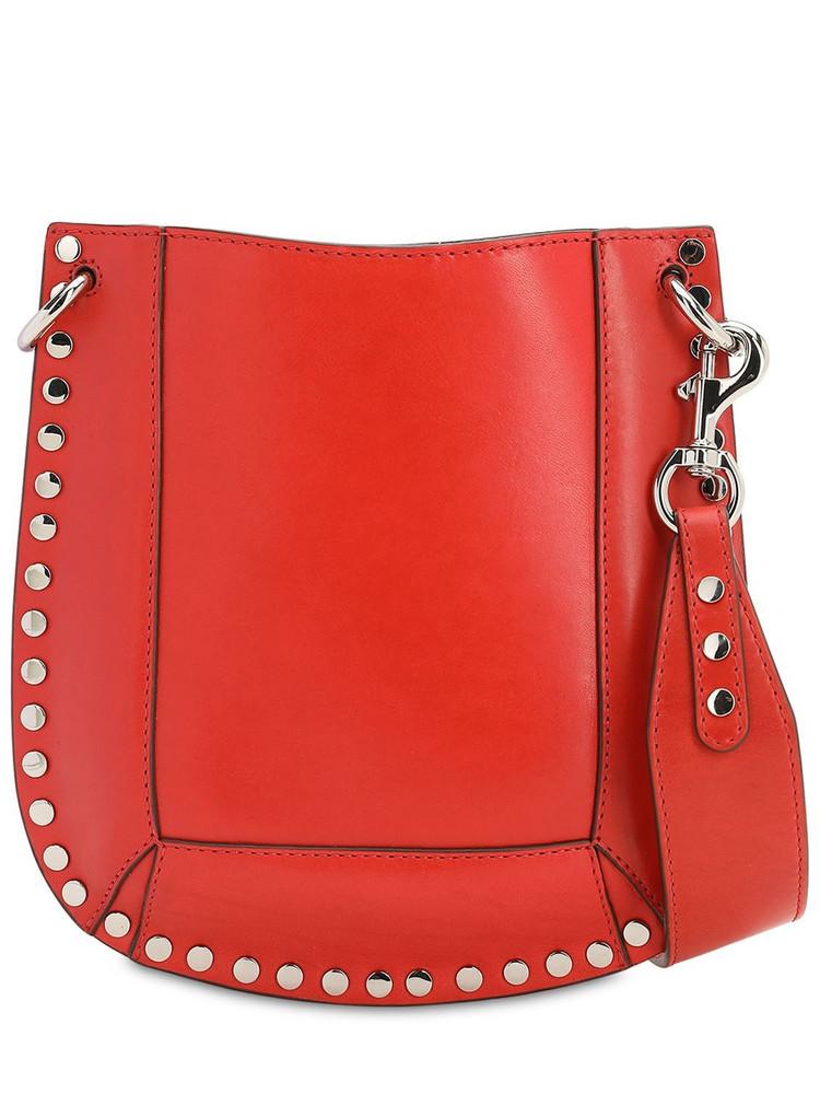 ISABEL MARANT Nasko Leather Shoulder Bag in orange