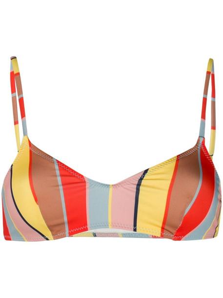 Solid & Striped striped bikini top in yellow
