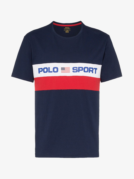 Polo Ralph Lauren logo stripe print T-shirt