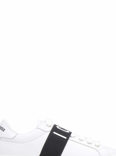 Dsquared2 Leather Sneakers in white