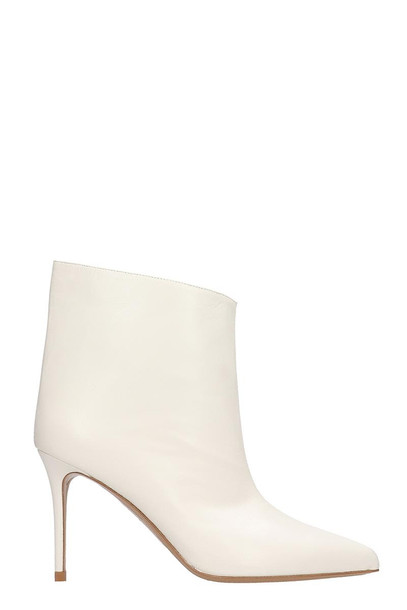 Alexandre Vauthier Ankle Boots In Beige Leather