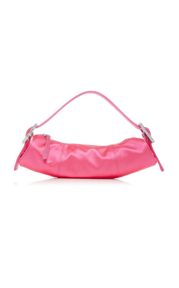 BY FAR Kubi Silk Satin Handle Bag in pink