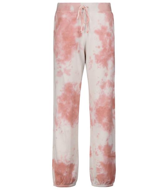 Velvet Nissa tie-dye sweatpants in pink
