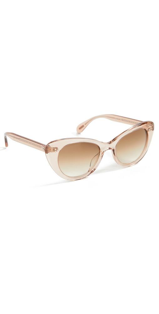 Oliver Peoples Eyewear Rishell Sun Sunglasses in brown / blush