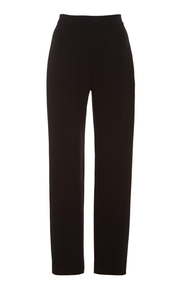 Brandon Maxwell Wool Cigarette Pants in black