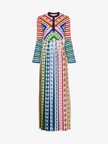 Mary Katrantzou desmine printed crepe de chine maxi dress