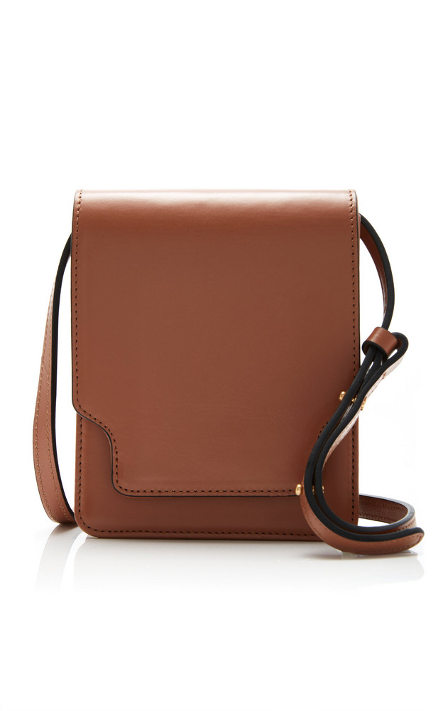 Marge Sherwood Pump Classic Leather Crossbody Bag in brown