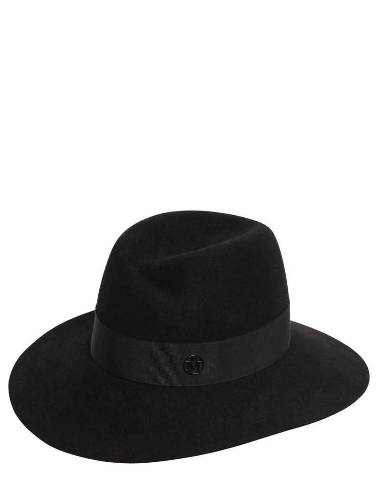 MAISON MICHEL Virginie Felted Hat in black
