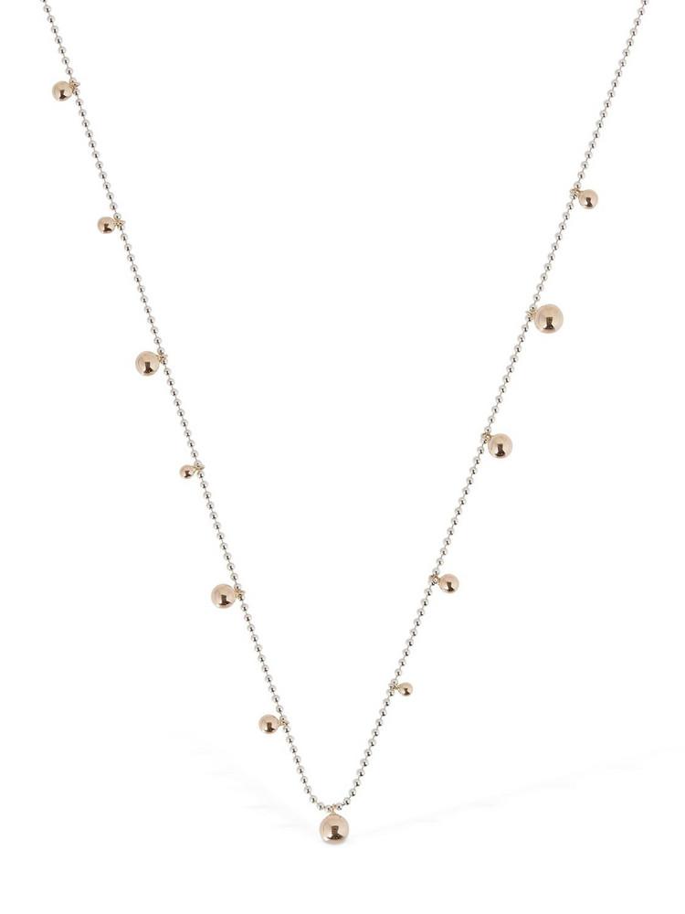 DODO Bollicine Long Necklace in gold / silver