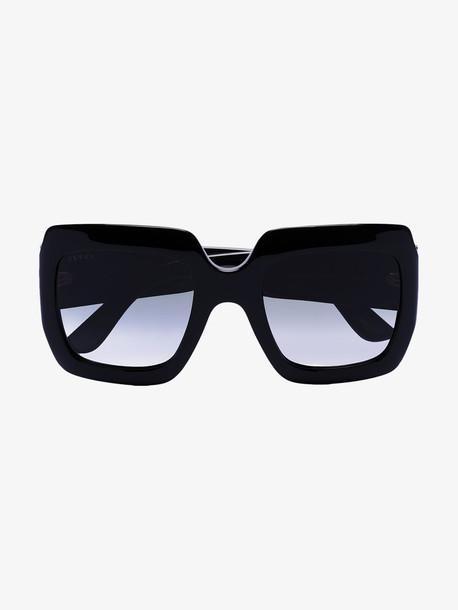 Gucci Eyewear black square GG acetate sunglasses