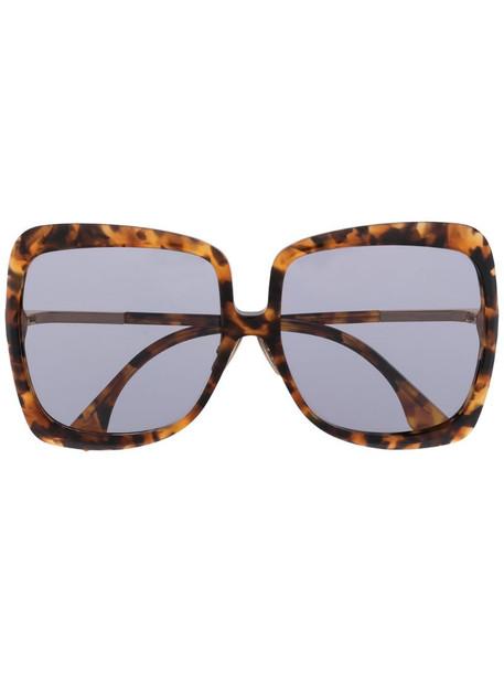 Fendi Eyewear oversized tortoiseshell sunglasses in brown