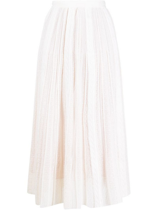 Marco De Vincenzo cable panel skirt in white