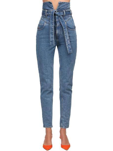 THE ATTICO High Waist Denim Jeans