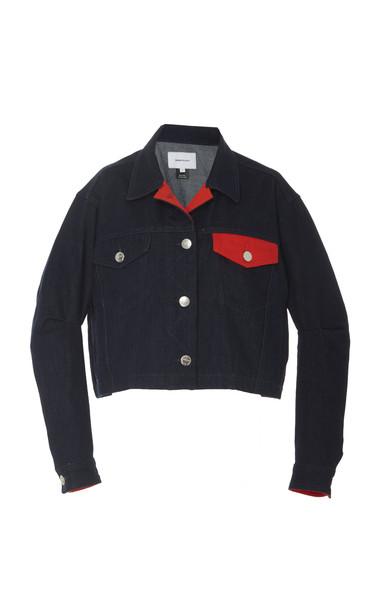 Current/Elliott M'Onogrammable Collin Denim Jacket Size: 2 in black