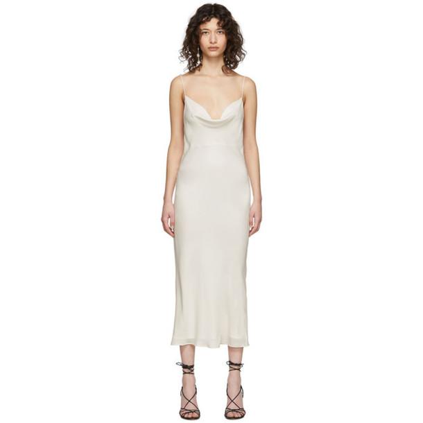 Kiki de Montparnasse Off-White Silk Simple Slip Dress