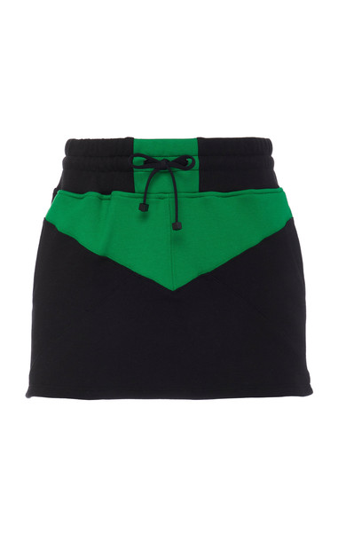 Koral Serein Color Blocked Mini Skirt in black