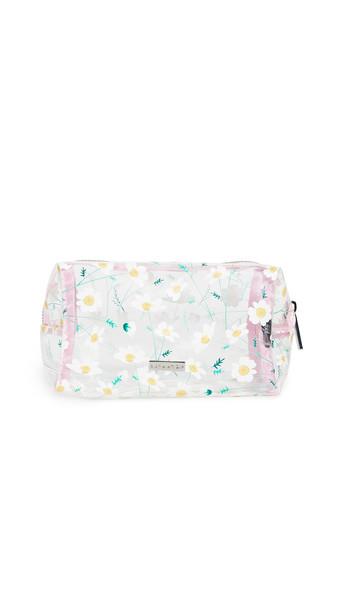 Skinnydip Daisy Chain Makeup Bag in white