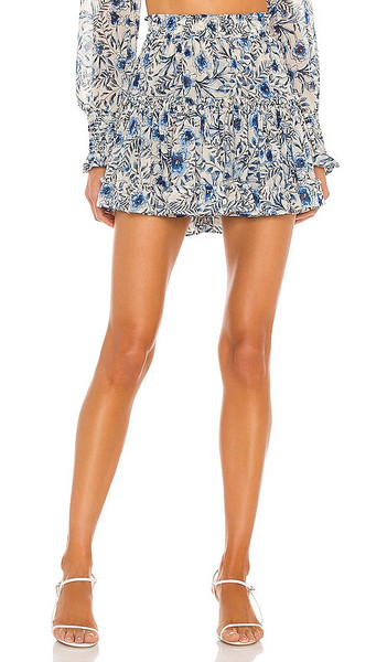 MISA Los Angeles Marion Skirt in Blue in indigo