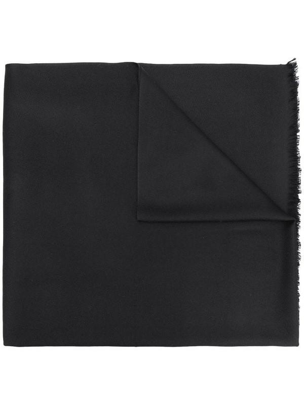 N.Peal Pashmina Shawl scarf in black