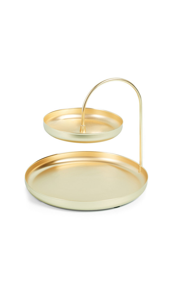 Shopbop Home Shopbop @Home Pose Two Tiered Jewelry Tray in gold
