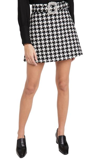 Giuseppe di Morabito Belted Miniskirt in black / white