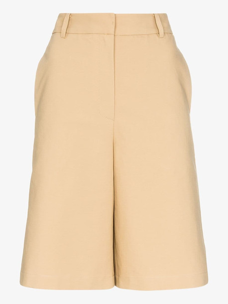 LVIR knee-length tailored shorts in neutrals