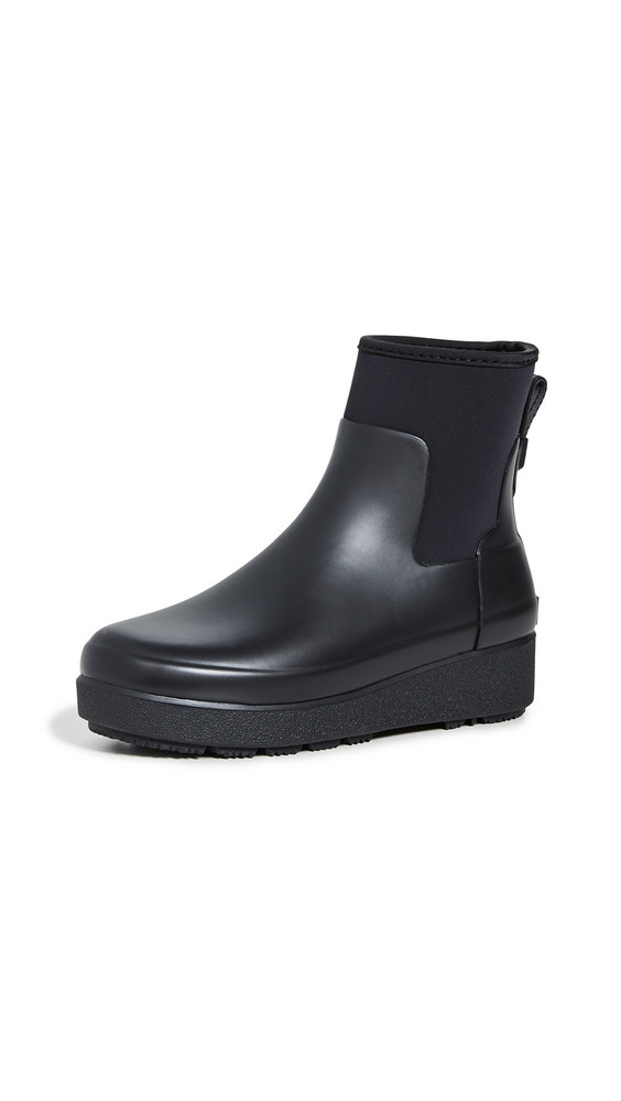 Hunter Boots Refined Creeper Neo Chelsea Boots in black