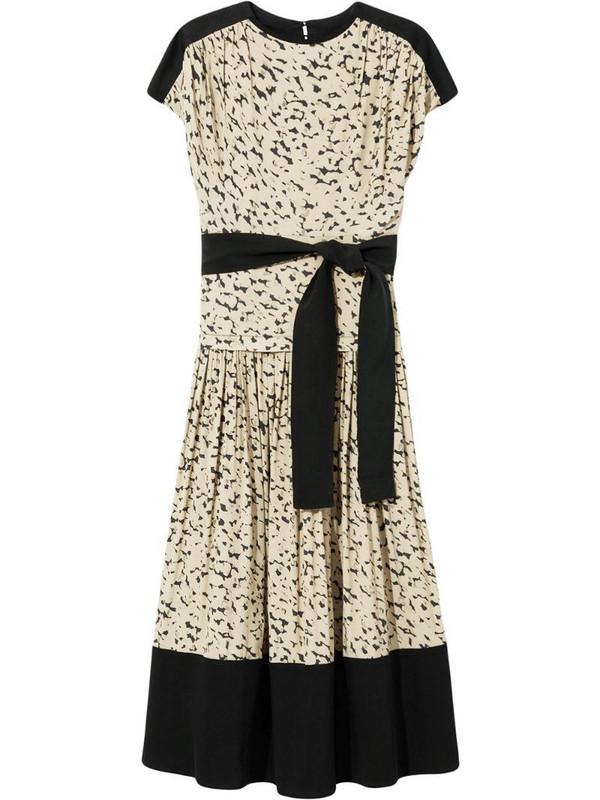Proenza Schouler short-sleeved leopard print dress in green