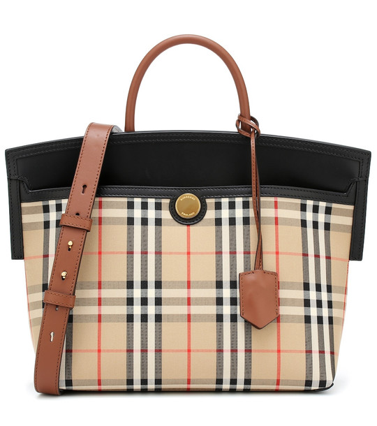 Burberry Society Small Vintage Check tote in beige