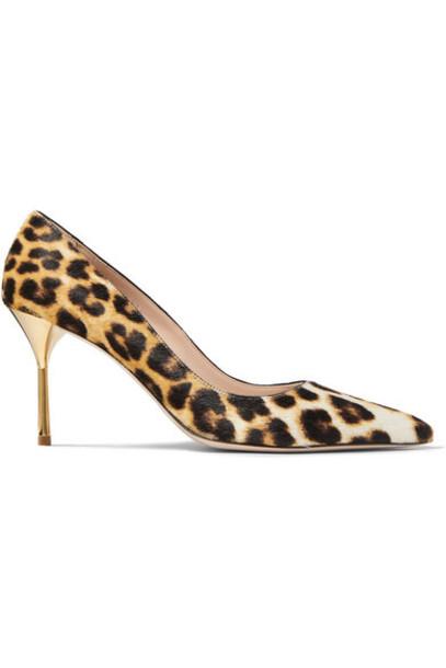 Miu Miu - Leopard-print Calf Hair Pumps - Leopard print