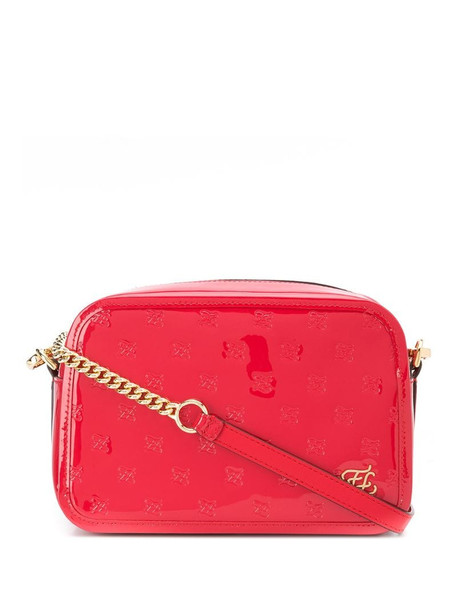 Fendi Karligraphy embossed crossbody bag in red