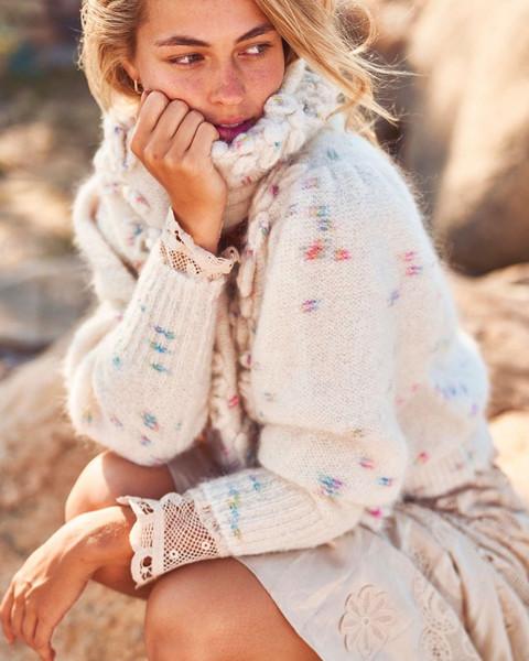 scarf sweater dress