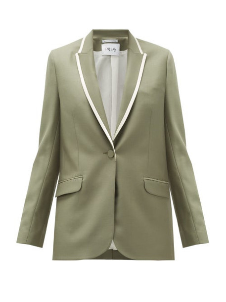 Pallas X Claire Thomson-jonville - Glasgow Single-breasted Wool Jacket - Womens - Khaki