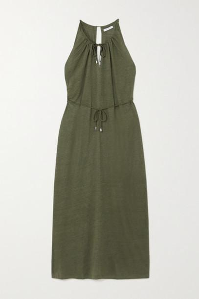 Ninety Percent - Linen Midi Dress - Green