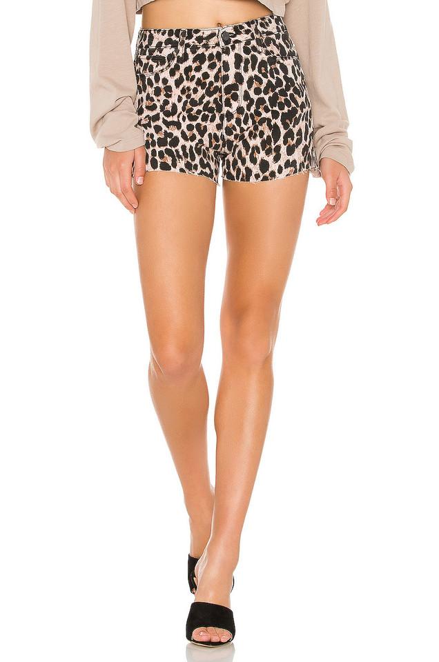 PAIGE Margot Short in pink / leopard