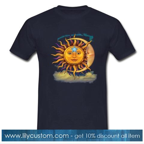 The Mountain Sun and Moon Tie Tshirt