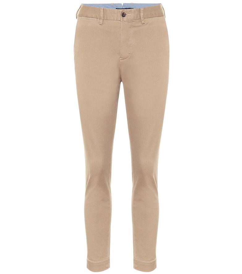 Polo Ralph Lauren Stretch cotton-blend skinny pants in beige