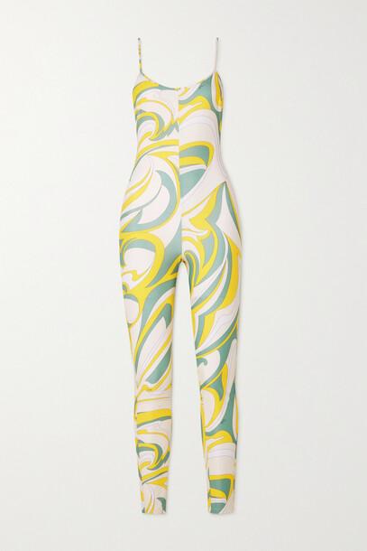 Emilio Pucci - Printed Stretch Jumpsuit - Green