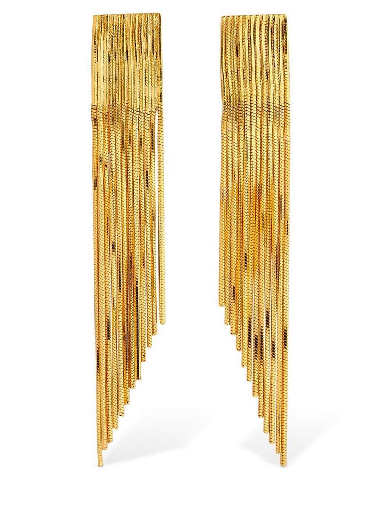 IOSSELLIANI Clip-on Fringe Earrings in gold