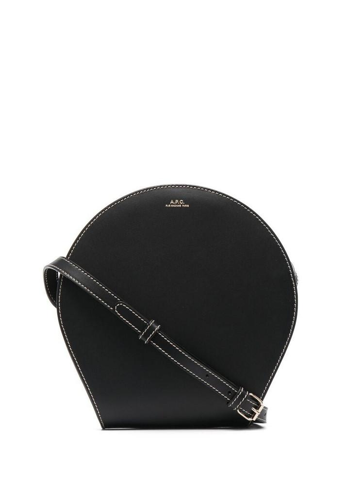 A.P.C. A.P.C. logo-print shoulder bag - Black