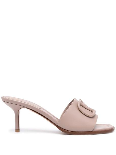 Valentino Garavani VLOGO 80mm sandals in pink