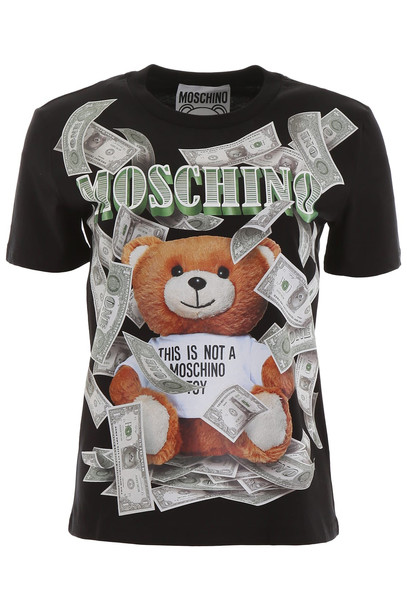 Moschino Teddy Dollar T-shirt in black