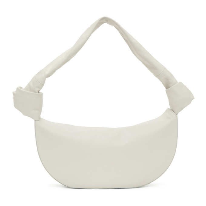 Little Liffner Off-White Double Knot Bag in cream