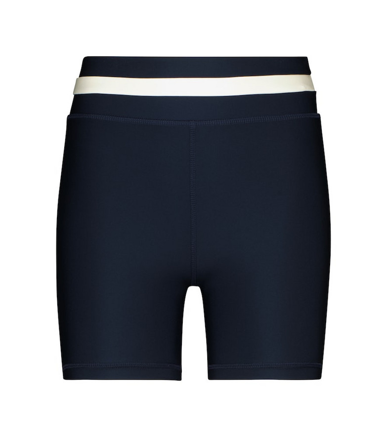 The Upside Mallorca high-rise biker shorts in blue