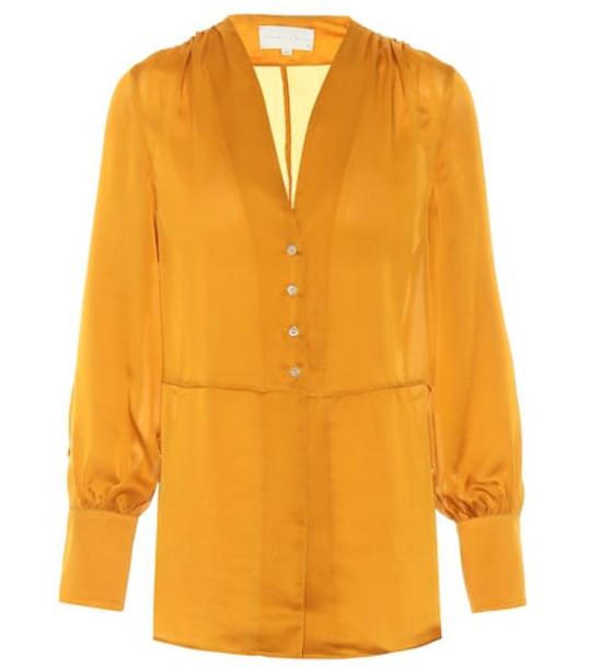 Arjé Gaia silk shirt in yellow